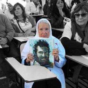woman holding portrait